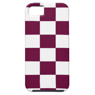 Capas Para iPhone 5 Borgonha e tabuleiros de damas brancos