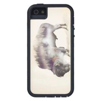 Capas Para iPhone 5 búfalo-paisagem exposição-americana Búfalo-dobro