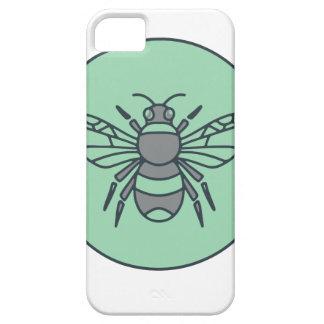 Capas Para iPhone 5 Bumble linha do círculo da abelha a mono