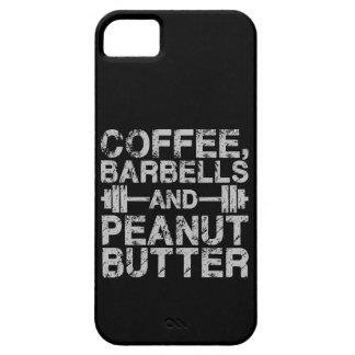 Capas Para iPhone 5 Café, Barbells e manteiga de amendoim - exercício