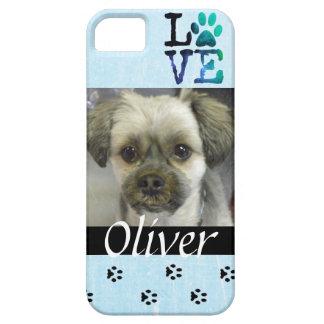 Capas Para iPhone 5 Caixa personalizada do telemóvel do cão foto azul