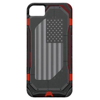 Capas Para iPhone 5 Caixa preta da bandeira dos E.U. dos ops
