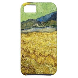 Capas Para iPhone 5 Campos de trigo com a ceifeira no nascer do sol -