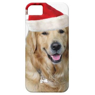 Capas Para iPhone 5 Cão-animal de estimação do cão-papai noel de claus