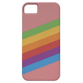 Capas Para iPhone 5 Caso cor-de-rosa do telefone do arco-íris