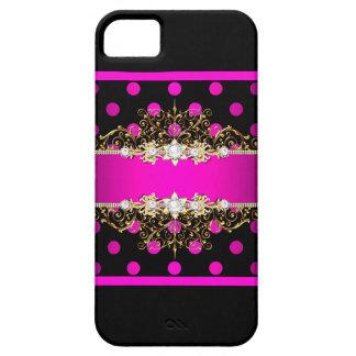 Capas Para iPhone 5 Caso feminino do jewell & dos pontos