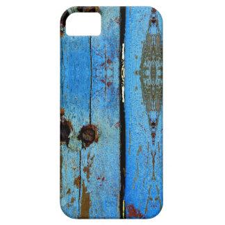 Capas Para iPhone 5 Caso móvel de madeira azul