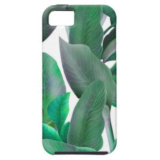 Capas Para iPhone 5 Caso tropical do teste padrão das folhas