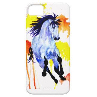 Capas Para iPhone 5 Cavalo selvagem da aguarela