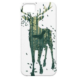 Capas Para iPhone 5 Cervos e paisagem da floresta do abstrato