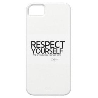 Capas Para iPhone 5 CITAÇÕES: Confucius: Respeito você mesmo