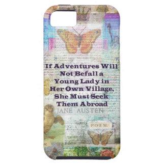 Capas Para iPhone 5 Citações da aventura do viagem de Jane Austen