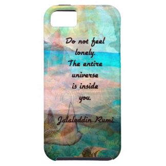 Capas Para iPhone 5 Citações da inspiração de Rumi sobre o universo