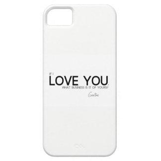 Capas Para iPhone 5 CITAÇÕES: Goethe: Eu te amo