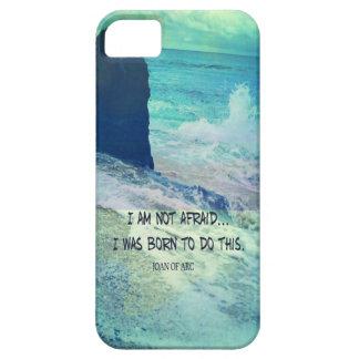 Capas Para iPhone 5 Citações inspiradas JOANA da coragem do oceano do