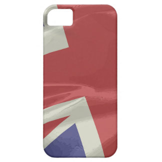 Capas Para iPhone 5 Close up de seda da bandeira de Union Jack