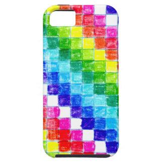 Capas Para iPhone 5 Colorido em quadrados do papel de gráfico