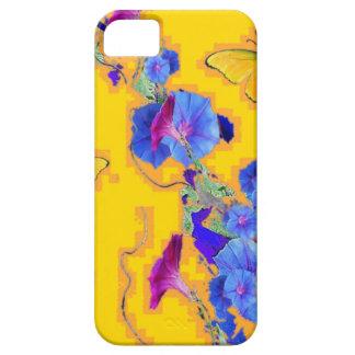 Capas Para iPhone 5 corriolas do azul das borboletas do ouro