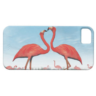 Capas Para iPhone 5 Corte dos flamingos - 3D rendem