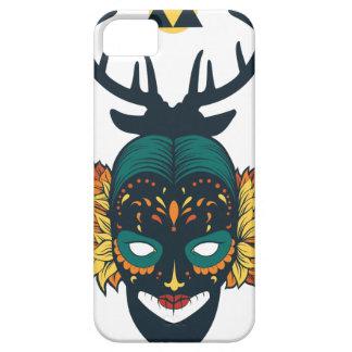 Capas Para iPhone 5 crânio da menina com antin dos cervos