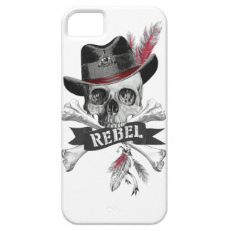 Capas Para iPhone 5 Crânio gótico do estilo tribal com gráfico da
