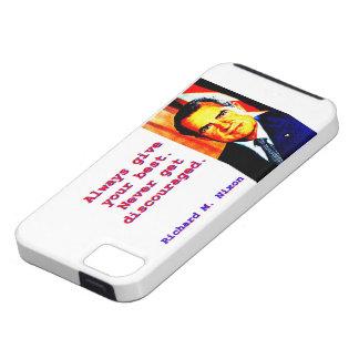 Capas Para iPhone 5 Dê sempre seu melhor - Richard Nixon