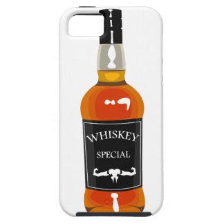 Capas Para iPhone 5 Desenho da garrafa de uísque isolado em Backgroun