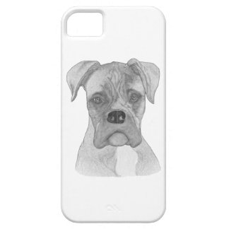 Capas Para iPhone 5 Desenho do cão B&W do pugilista