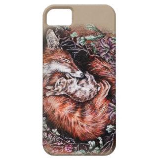 Capas Para iPhone 5 Desenho do Fox vermelho e da arte animal e dos