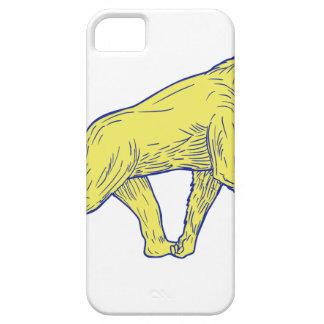Capas Para iPhone 5 Desenho lateral de passeio do chimpanzé