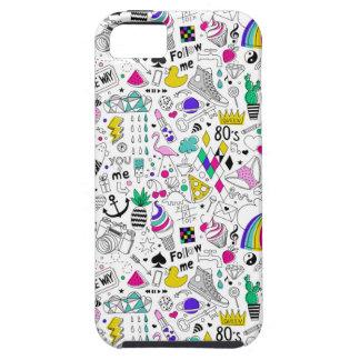 Capas Para iPhone 5 Desenhos animados brancos do esboço do arco-íris