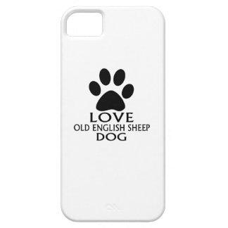 Capas Para iPhone 5 DESIGN INGLÊS VELHO do cão de CARNEIROS do AMOR