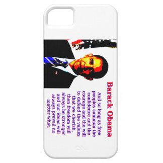 Capas Para iPhone 5 E contanto que povos livres - Barack Obama