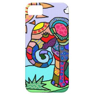 Capas Para iPhone 5 Elefante vibrante colorido da flor do abstrato da