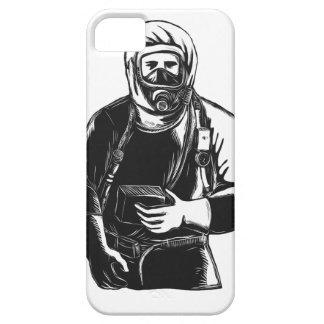 Capas Para iPhone 5 EMT que veste o terno Scratchboard de Hazmat