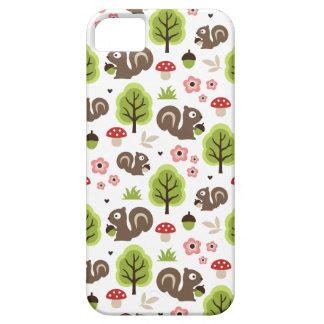 Capas Para iPhone 5 Esquilo no teste padrão da floresta do carvalho