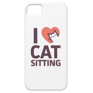 Capas Para iPhone 5 Eu amo o assento do gato