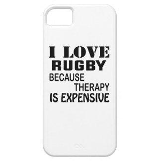 Capas Para iPhone 5 Eu amo o rugby porque a terapia é cara