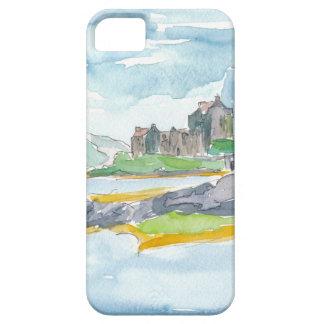 Capas Para iPhone 5 Fantasia das montanhas de Scotland e castelo de