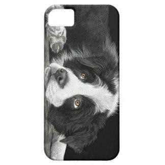 """Capas Para iPhone 5 Filhote de cachorro de border collie - """"diga-me"""