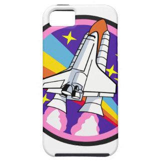 Capas Para iPhone 5 foguete do arco-íris do rosa do remendo do crachá
