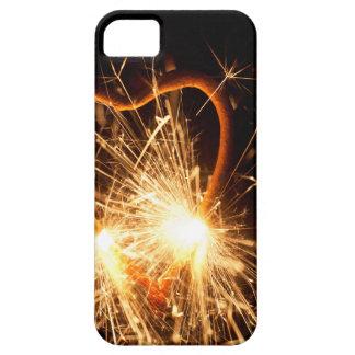 Capas Para iPhone 5 Foto macro de um sparkler ardente no formulário de