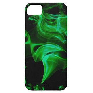 Capas Para iPhone 5 Fractal verde do cetim
