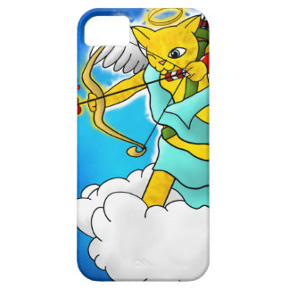 Capas Para iPhone 5 Gato do Cupido do amarelo do gengibre do dia dos