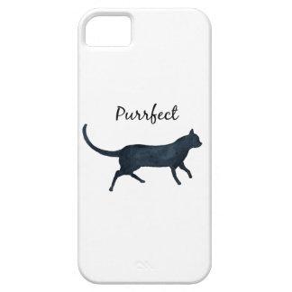 """Capas Para iPhone 5 Gato preto """"purrfect """""""