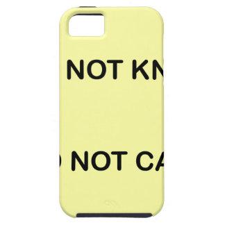 CAPAS PARA iPhone 5 I DO NOT KNOW. I DO NOT CARE.