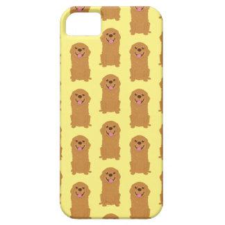 Capas Para iPhone 5 Ilustração feliz do golden retriever