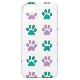 Capas Para iPhone 5 Impressões da pata do filhote de cachorro do roxo