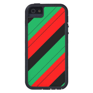 Capas Para iPhone 5 Kwanzaa colore o teste padrão verde preto vermelho