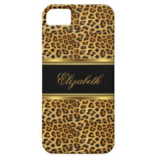 Capas Para iPhone 5 leopardo elegante elegante do ouro do iPhone